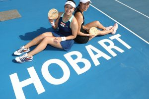 HAPPY: Latisha Chan and Hao-Ching Chan's late decision to enter Hobart delivered the perfect reward; Getty Images